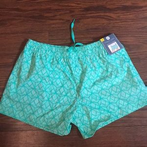 Lauren James mint and white shorts